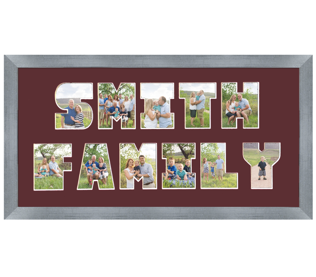 Double Lined Letter Mat & Frame - Moments That Matter